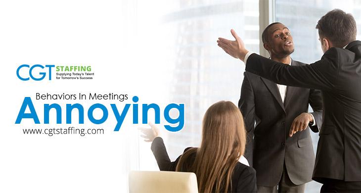 Annoying Behaviors That Disrupt Meetings